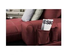 ADA trendline Polsterauflage Ruben, der Echtleder- Organizer für das Sofa rot Zubehör Polstermöbel Möbel Polsterauflagen