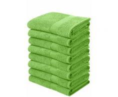 my home Handtücher Juna, (8 St.), im Vorteilspack grün Badetücher
