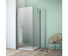 maw by GEO Eckdusche A-E120, ebenerdiger Einbau möglich silberfarben Bodenablauf Duschkabinen Duschen Bad Sanitär