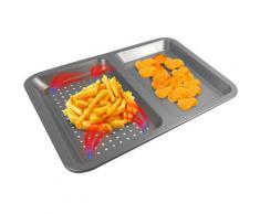 TELESHOP Backblech Airfry Pro, Stahl-Carbonstahl, (1 St.), mit Titanbeschichtung grau Kochen Backen