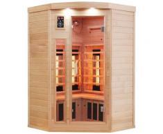 Dewello Infrarotkabine Lakefield Dual-Therm, für bis zu 3 Personen beige Infrarotkabinen Sauna Bad Sanitär