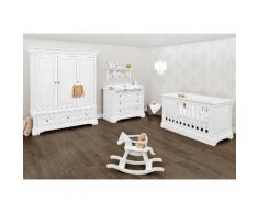 Pinolino Babyzimmer-Komplettset Emilia (Set, 3-tlg) weiß Baby Baby-Möbel-Sets Babymöbel Schlafzimmermöbel-Sets