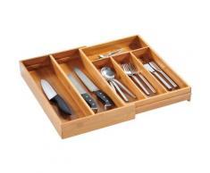 KESPER for kitchen & home Besteckkasten, variabel ausziehbar, Bambus beige Besteckkasten Küchen-Ordnungshelfer Küchenhelfer Küche
