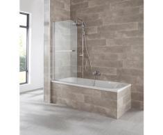 welltime Badewannenaufsatz Badalona, BxH: 80x140cm silberfarben Duschwände Duschen Bad Sanitär