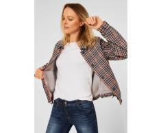 Cecil Jackenblazer, mit Hemdblusenkragen und durchgehender Knopfleiste weiß Damen Jackenblazer Übergangsjacken Jacken Mäntel