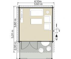 Kiehn-Holz Gartenhaus, Kallenberg 3, (Set) beige Gartenhäuser Garten Balkon