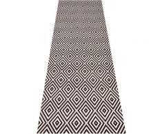 bougari Läufer Karo, rechteckig, 8 mm Höhe, Sisal-Optik, In- und Outdoorgeeignet schwarz Teppichläufer Bettumrandungen Teppiche