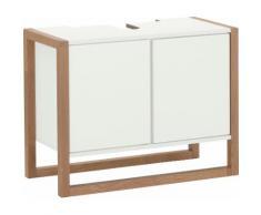 andas Waschbeckenunterschrank New Est, Gestell aus massiver Eiche weiß Bad-Waschbecken-Unterschränke Badmöbel