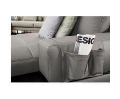 ADA trendline Polsterauflage Ruben, der Echtleder- Organizer für das Sofa grau Zubehör Polstermöbel Möbel Polsterauflagen