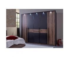 FORTE Kleiderschrank Bellevue, mit LED-Beleuchtung beige Drehtürenschränke Kleiderschränke Schränke