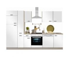 Optifit Küchenzeile mit E-Geräten »Faro«, Breite 300 cm, weiß, Weiß Glanz