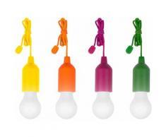MediaShop LED Gartenleuchte HandyLUXcolors, Tageslichtweiß, kabellose Allzweckleuchte, 4er-Set bunt Außenleuchten Lampen Leuchten sofort lieferbar
