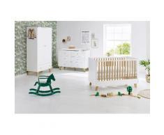 Pinolino Babyzimmer Set (3-tlg) Kinderzimmer, »Pan extrabreit«, Neutral, weiß/eiche