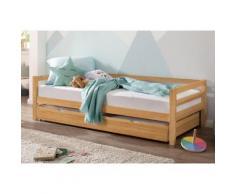 Lüttenhütt Daybett Alpi, mit Schubkasten aus massivem Kiefernholz, in drei unterschiedlichen Farbvarianten, Außenbreite 103 cm, Kinderbett, Einzelbett beige Einzelbetten Betten