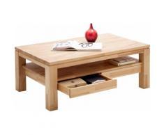 MCA furniture Couchtisch, Couchtisch Massivholz mit Schubladen braun Couchtische eckig Tische