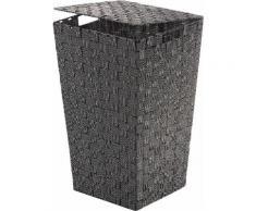 Home affaire Wäschekorb, mit Klappdeckel, Höhe ca. 54 cm schwarz Wäschesammler Badaccessoires Badmöbel Wäschekorb