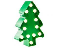MARQUEE LIGHTS LED Dekolicht Weihnachtsbaum, 1 St., Warmweiß, Wandlampe, Tischlampe Xmas Tree mit 12 festverbauten LEDs - 11cm Breit und 23cm hoch grün LED-Lampen LED-Leuchten SOFORT LIEFERBARE Lampen Leuchten