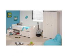 Parisot Jugendzimmer-Set (3-tlg.) »Smoozy«, weiß, Weiß mit Kieferstruktur