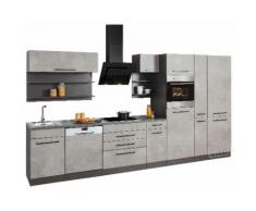 HELD MÖBEL Küchenzeile Tulsa ohne E-Geräte, grau, betonfarben