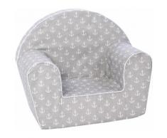 Knorrtoys Sessel Maritim Grey, Made in Europe grau Kinder Kindersessel Kindersofas Kindermöbel