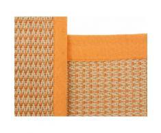 Teppich, Sisal Sofia, carpetfine, rechteckig, Höhe 5 mm, handgewebt orange Juteteppiche Naturteppiche Teppiche