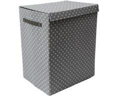 Franz Müller Flechtwaren Wäschebox TexBox (1 Stück) grau Wäschetonnen Wäschekörbe Wäschetruhen Badmöbel Wäschesammler