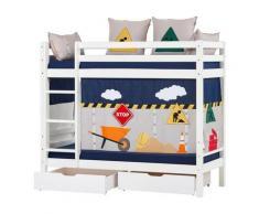 Hoppekids Etagenbett Construction weiß Kinder Kinderbetten Kindermöbel