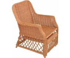 Home affaire Rattanstuhl, Handarbeit, Maße (B/T/H): (67/75/91) braun Rattanstuhl Funktionssessel Sessel