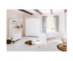 Pinolino Babyzimmer-Komplettset Florentina, (Set, 4 St.), breit groß mit Regalaufsatz; Made in Europe; Kinderbett, Schrank und Wickelkommode weiß Baby Babybetten Babymöbel Möbel sofort lieferbar