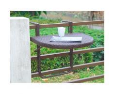 Garden Pleasure Balkonhängetisch Rattan, Polyrattan, klappbar, 60x50 cm braun Gartenmöbel Gartenparty Aktionen Themen