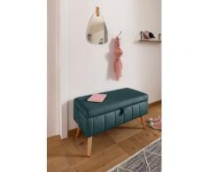 my home Truhenbank Amira, mit Staufach, in 3 Bezugsqualitäten feiner Steppung grün Truhenbänke Sitzbänke Stühle