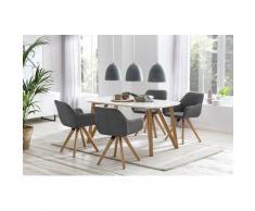 SalesFever Essgruppe (Set, 5-tlg) grau Essgruppen Tische Sitzmöbel-Sets