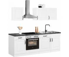 wiho Küchen Küchenzeile Erla, ohne E-Geräte, Breite 220 cm grau Küchenzeilen Geräte -blöcke Küchenmöbel Arbeitsmöbel-Sets