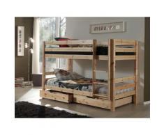 Vipack Etagenbett Pino, mit Rollroste und Schubkästen beige Kinder Kinderbetten Kindermöbel