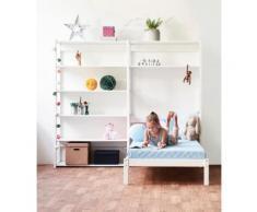Hoppekids Jugendzimmer-Set Skagen (Set, 16-tlg) weiß Regalsysteme Büroregale Büromöbel Schlafzimmermöbel-Sets