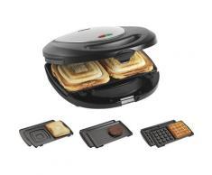 bestron Kontaktgrill ASM8010, antihaftbeschichtet schwarz Elektrogrills Grill Haushaltsgeräte