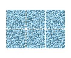 queence Getränkeuntersetzer GC0133, (Set, 6 tlg.), aus Acrylglas blau Untersetzer Küchenhelfer Haushaltswaren