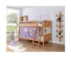 Ticaa Etagenbett Erni, mit Rollrost und Textil-Set wahlweise Matratze, Buche beige Betten Möbel Aufbauservice