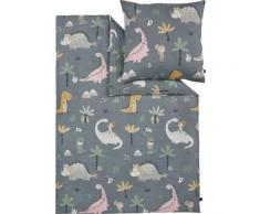 s.Oliver Kinderbettwäsche Satinbettwäsche Junior, gemustert grau Bettwäsche nach Größe Bettwäsche, Bettlaken und Betttücher