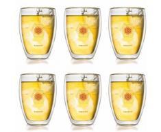 Creano Thermoglas Blume des Lebens, (Set, 6 tlg.), 6-teilig farblos Gläser-Sets Gläser Glaswaren Haushaltswaren
