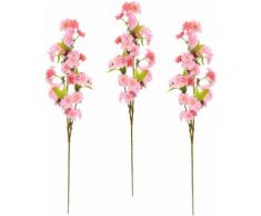my home Kunstblume Palina, 3er Set rosa Künstliche Zimmerpflanzen Kunstpflanzen Wohnaccessoires