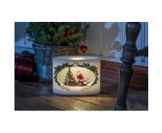 KONSTSMIDE LED-Kerze, LED Echtwachskerze Weihnachtsmann mit Kind weiß LED-Kerze Kerzen Laternen Wohnaccessoires