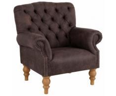 Home affaire Sessel »Lord« mit echter Chesterfield-Knopfheftung und Ziernägeln, Luxus-Microfaser Lederoptik