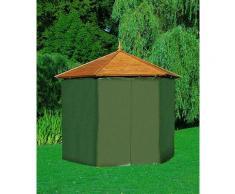 promadino Pavillon-Schutzhülle, für Holzpavillon Palma grün Zubehör Pavillons Gartenmöbel Gartendeko Pavillon-Schutzhülle