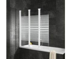 Schulte Badewannenaufsatz Komfort, teilgerahmt weiß Duschwände Duschen Bad Sanitär