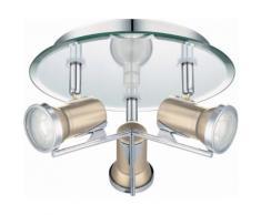Eglo LED Deckenleuchte Badleuchte 3flg Ø 23 cm TAMARA 1, silberfarben, nickelfarben