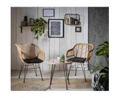INOSIGN Sitzgruppe Adiba, für Indoor, Terrasse, Wintergarten oder Garten geeignet schwarz Sofas Couches Möbel sofort lieferbar