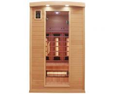 Dewello Infrarotkabine Hyder, für bis zu 2 Personen beige Infrarotkabinen Sauna Bad Sanitär