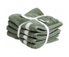 Gant Waschlappen Organic Premium grün Waschhandschuh und Handtücher Badetücher