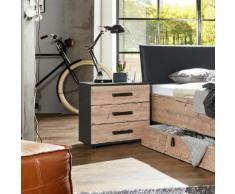 Wimex Nachttisch Stockholm in diversen Ausführungen, grau, graphitfarben/Edeltannenfarben